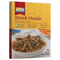 Okra v hutné tomatové omáčce (Bhindi Masala) Ashoka