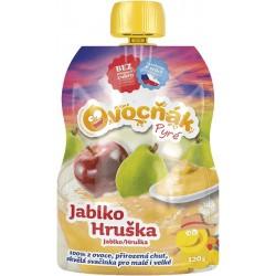 Pyré Jablko - hruška 100% bez přidaného cukru 120g Ovocňak