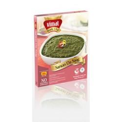 Listy hořčice ve špenátovém krému s cibulí a kořením (Sarson Da Saag) 300g VIMAL