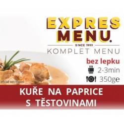 Kuře na paprice s těstovinami 350g Komplet Menu