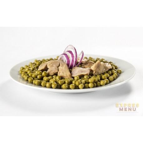 Zelený hrášek s kuřecím masem 1 porce Expres Menu SCD